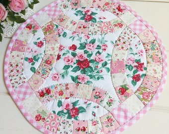 custom/made to order sweet hand sewn double wedding ring doily