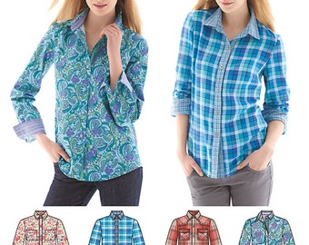 Simplicity Sewing Pattern 1538 Misses' Button Front Shirt
