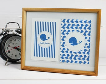 "Set of four illustrations for children ""Little whale"""