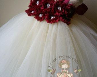 flower girl dress, flower girl dresses, burgundy flower girl dress, ivory flower girl dress, baby dress, girl dress, birthday dress, wedding