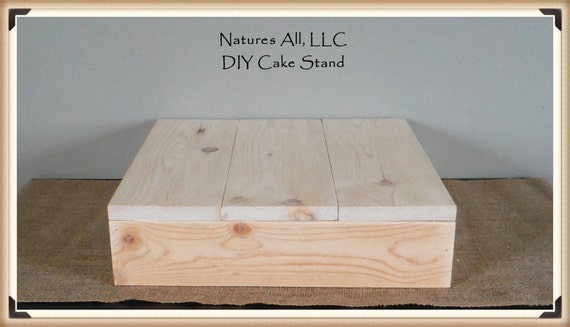 """16"""" DIY Rustic Wedding Cake Stand/Country Wedding Cake Stand/Unfinished Natural Wood"""