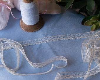"""French Valenciennes Lace- (LFV12EDG180)1/2"""" edging"""