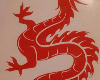 Red dragon vinyl decal
