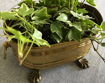 Vintage Brass planter - Footed planter - Made in West Germany