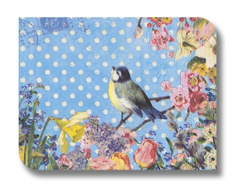 Paper napkin for decoupage, mixed media, collage, scrapbooking x 1. Bluebird of happiness. No 1046