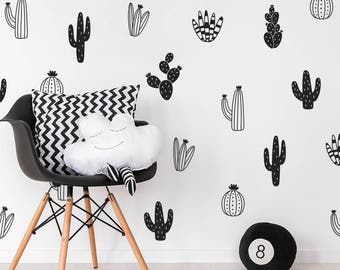 Cactus Wall Decals - Nursery Decals, Vinyl Wall Decals, Tribal Nursery Decals, Cactus Wall Stickers, Succulent and Cacti Decals