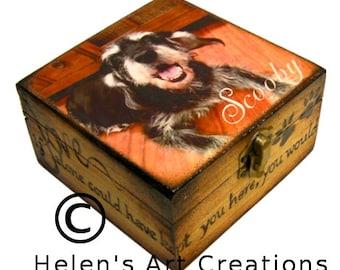 Pet Memorial Box, Keepsake Box, Pet Urn, Personalized Keepsake Box, All Occasions, Photo Box, Custom Pet Photo, Animal Box