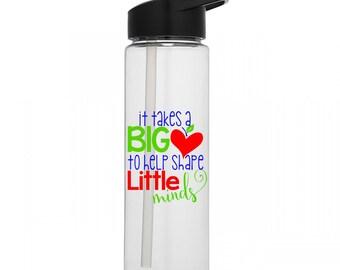 Teacher Thank You Water Bottle | Teacher Appreciation | Teacher End of Year Gift | Teacher Gift | Teacher Water Bottle | Big Heart |