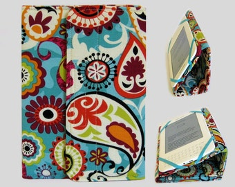 Standable Kindle Cover, Kindle Fire Case, Nook Cover, Kobo Case, Nexus 7 Cover, Kindle Fire HDX, iPad Mini, Dell Venue Paisley