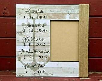 Nautical Personalized Picture Frame | Nautical Song Lyric Frame | Personalized Custom Quote Frame