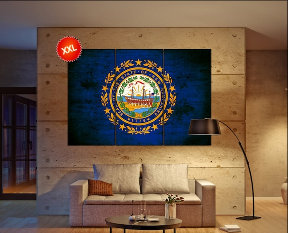 new hampshire state flag  canvas new hampshire state flag wall decoration new hampshire state flag canvas art large canvas