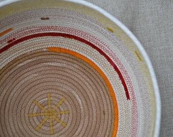unique rope basket * cotton basket *  rope storage basket * hand made