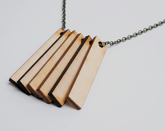 6 laser cut solid rectangles with one hole. Laser cut wood rectangle art and jewelry supply. Unfinished wood. Geometric laser cut wood.