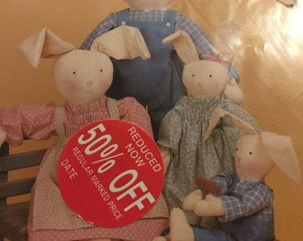 MAYniaSALE Dream Spinners Country Clover #120 patterns for 3 size rabbits