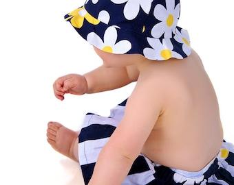 Girls Hat Pattern - Ruffled or Wide Brim Sun Hat Pattern baby toddler children kids