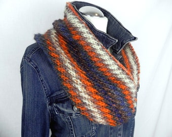 Loop * Hose Scarf * diagonal hand knitted * wool
