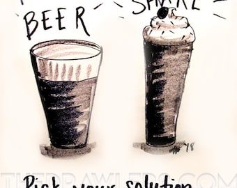 Beer or Milkshake by Nachanita