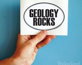geology rocks oval bumper sticker