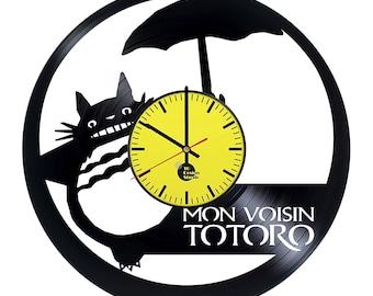 Totoro Anime Vinyl Record Wall Clock
