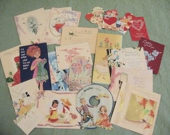 Unused vintage greeting cards, 20