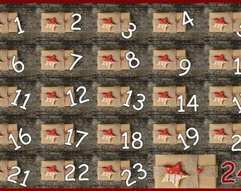 Advent Calendar 2017 Christmas Countdown 25 Days Until Christmas Instant Digital Download Print Stars Crafts