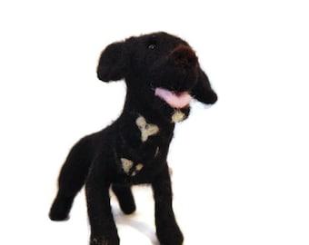 Custom Dog Sculpture - Example Needle felted Staffie cross - Staffordshire bull terrier  Art - Border Collie Sculpture