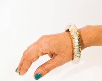 Boho Bracelet, Statement Bracelet, Silver Bangle Bracelet, Indian Jewelry, Vintage Bracelet, Ethnic Bracelet, Indian Bracelet
