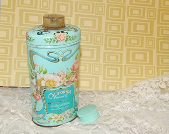 1977 Vintage AVON ''California Perfume Co. 1977 Anniversary Keepsake '' Talc Can