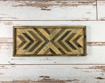 Natural Southwest X Reclaimed Wood Wall Art
