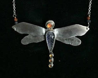 Sterling Silver Dragonfly with Gemstones