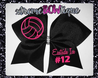 Volleyball Bow, Volleyball Bows, Volleyball Team Bows, Volleyball Gift, Custom Volleyball Bow, Personalized Volleyball Bow Fast Shipping