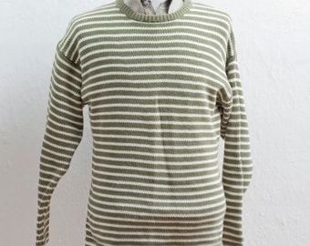 Men's Sweater / Vintage Gap Preppy Striped Sweater / Size Small