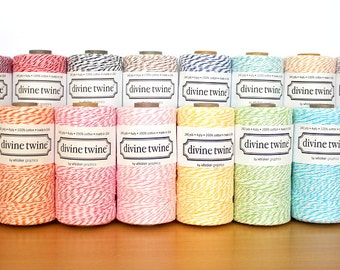 Choose 3 colours - Divine Twine baker's twine (5 metres per colour, 15 meters in total)