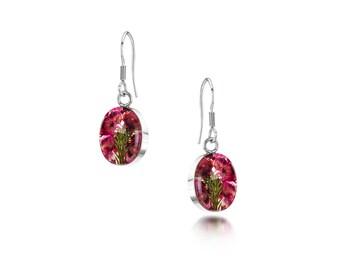 Silver drop Earrings - Heather - Sm Oval by Shrieking Violet® (ZSV-HE01)