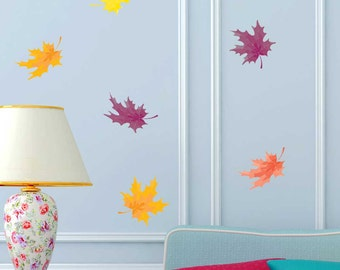 Autumn Leaves Wall Decal Kit - Colorful Leaf Wall Decal by Chromantics