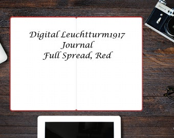 Leuchtturm1917 Layout for Digital Bullet Journal, Red