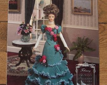 1994 crochet pattern Fashion Doll February DINNER GOWN