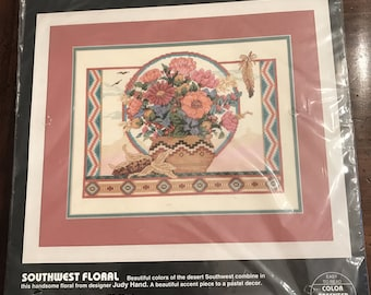 "Dimensions Counted Cross Stitch ""Southwest Floral"" Kit, Unopened"