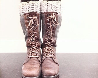 Boot cuffs | oatmeal