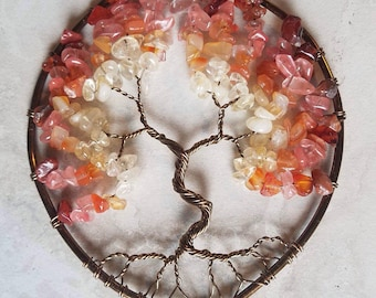 Rising sun tree of life suncatcher