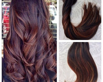"""5 Star Balayage Highlighted European Remy Tape-in Seamless weft 20"""" Hair Extensions 20pcs"""