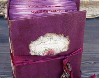 Burgundy Wedding Guest Book, Burgundy Photo album, Shabby Chic Wedding, Custom Wedding Photo Booth album