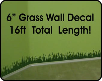Grass Wall Decal wall border - removable vinyl wall stickers / grass wall decal for nursery / playroom vinyl wall border/ grass decor