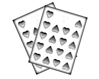 Hearts Hard Candy Molds - Valentine's Day Wedding - Baking Candy Making Party Supplies