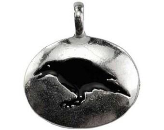 Raven Totem Amulet Pendant