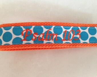 Bracelet personnalisé monogramme porte-clés noms ou initiales école professeur cadeaux Chevron points Camo porte-clé