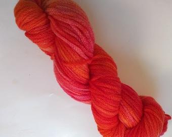 Pink Anemone on Chain DK SW Merino Hand dyed DK weight  yarn
