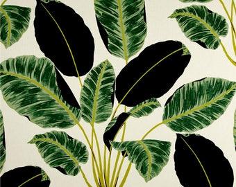 Botanical Pillow Cover, Green Pillow, Black, Cream, Foliage, Throw Pillow, Modern, SummerHome, Genevieve Gorder Rainforest