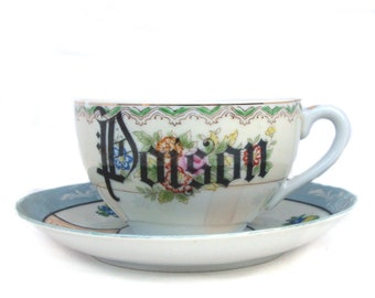 Poison Altered Vintage Teacup