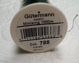 Gutermann Overlock Serger Polyester. Overlock Mini Cone. Sewing Thread. Dark Green. One Spool (1). SALE